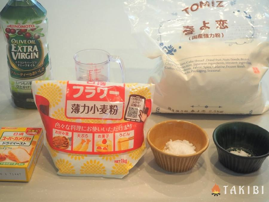 パン生地(4個分) 材料