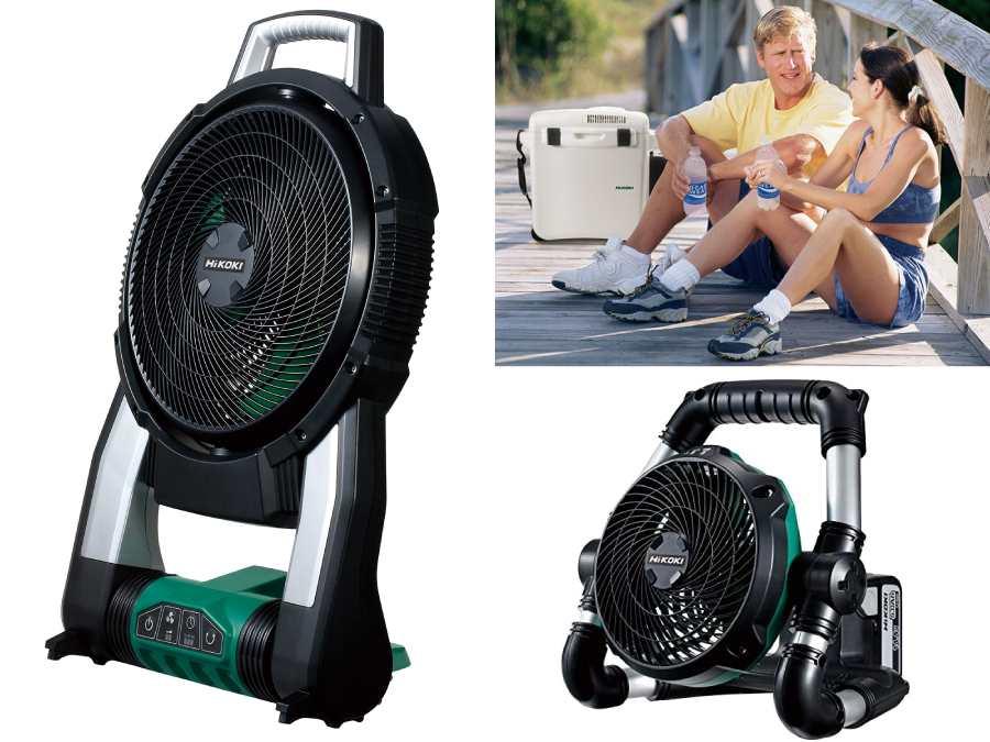 【ハイコーキ】建設現場でも使用されているハイパワー扇風機・冷温庫で夏を乗り切ろう!