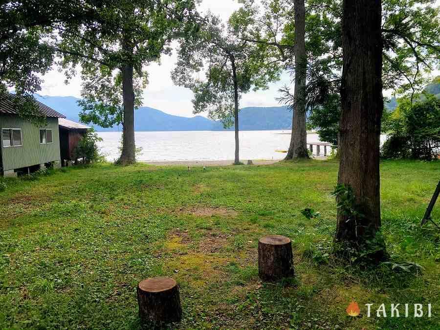 長野県,湖楽園キャンプ場,通常区画(51~58番)
