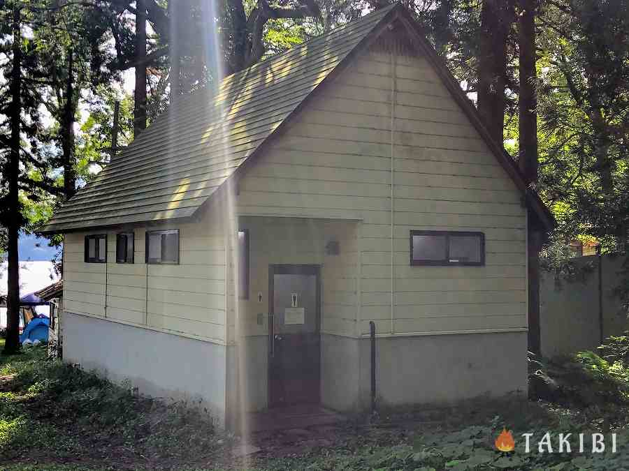 長野県,湖楽園キャンプ場,トイレ