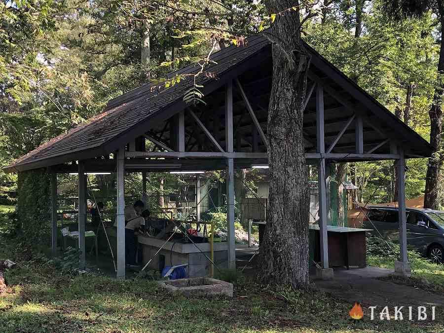 長野県,湖楽園キャンプ場,炊事棟